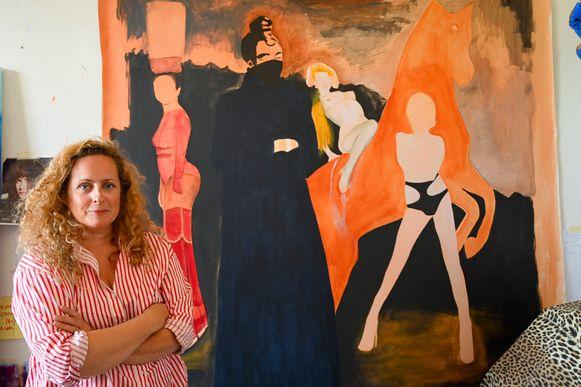 Het kunstwerk is nog niet af. Nathalie Pien wil het tijdens de ommegang van 2020 tentoon stellen.