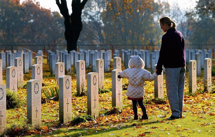 Het herdenken van oorlogsslachtoffers. Archieffoto.