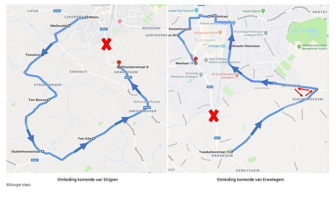 Tot 29 november moet het verkeer de wegomleidingen volgen.