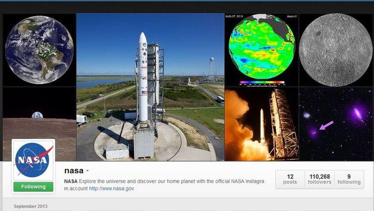 De NASA zit sinds kort op Instagram. Beeld Instagram