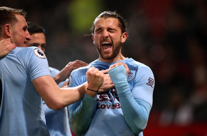 Jay Rodriguez maakte de 0-2 voor Burnley.