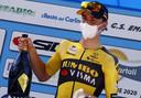 Kooij na zijn ritzege in de wielerweek van Coppi e Bartali.