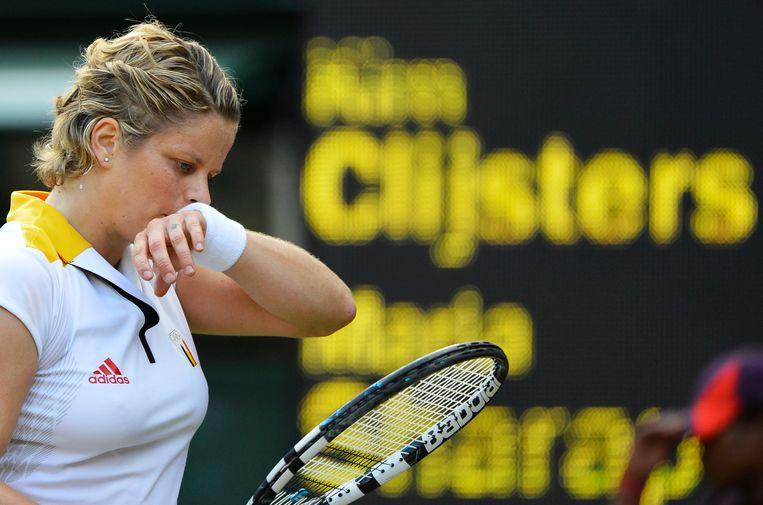 Kim Clijsters ontmoette Maria Sharapova negen keer op het WTA-circuit, hier op de Spelen van Londen in 2012. Beeld BELGA