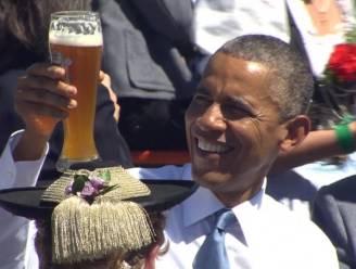 Oktoberfesten? Merkel en Obama drinken samen bier