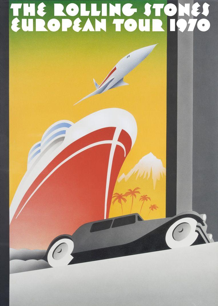 De poster voor de European Tour in 1970. Beeld