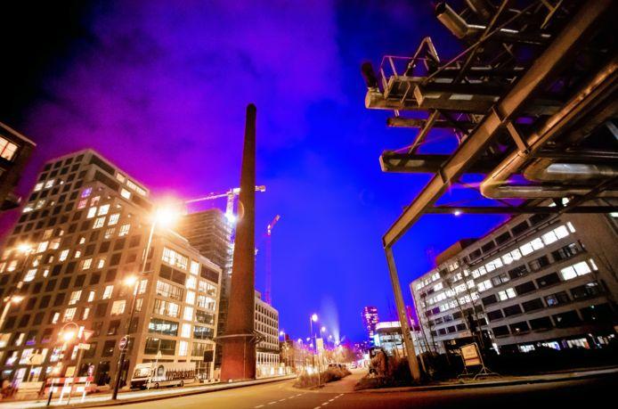 Blauw licht in Eindhoven.
