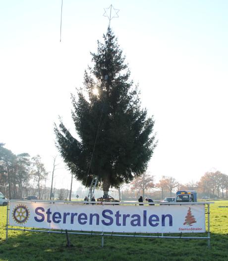 17-jaar oude kerstboom stralend  middelpunt 15e editie Sterren Stralen