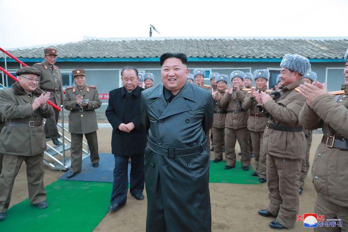 Grote leider Kim Jong-un zei erg genoten te hebben van het succes van de lancering.