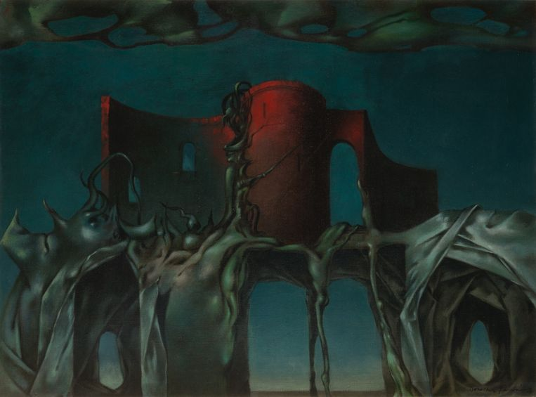 Dorothea Tanning, The Witch (1950). Beeld