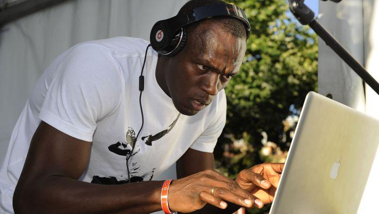 Usain Bolt als dj: