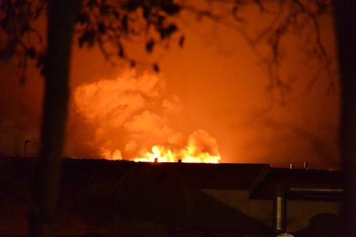 Brand bij Attero in Wilp.