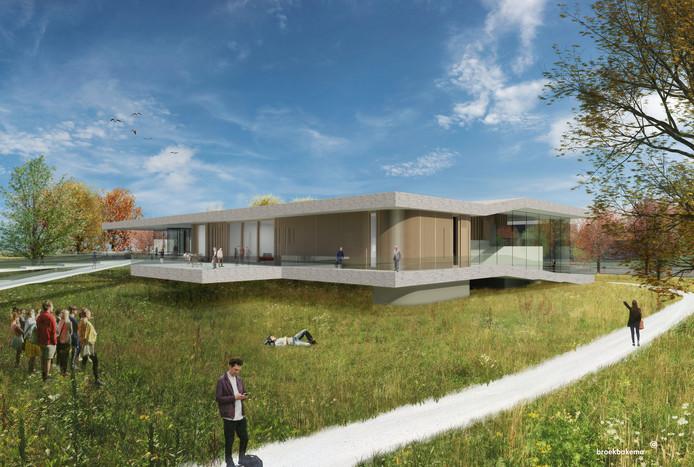 Het toekomstige Dialogue Centre op Wageningen Campus