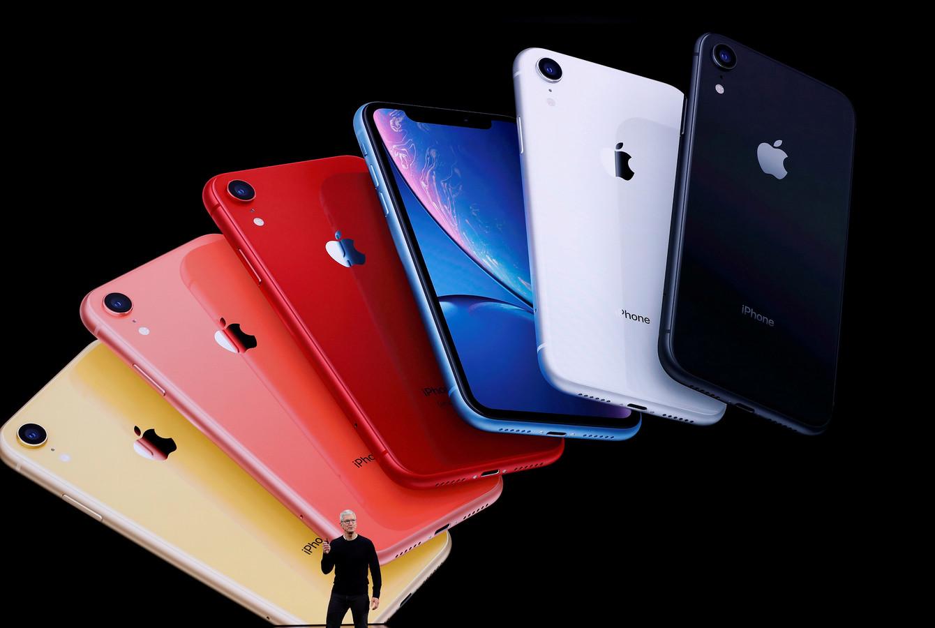 Apple-ceo Tim Cook kondigt de iPhone 11 aan.