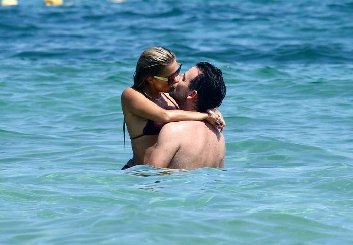 Sylvie Meis met haar nieuwe liefje Niclas Castello, gisteren in het Franse Saint Tropez.