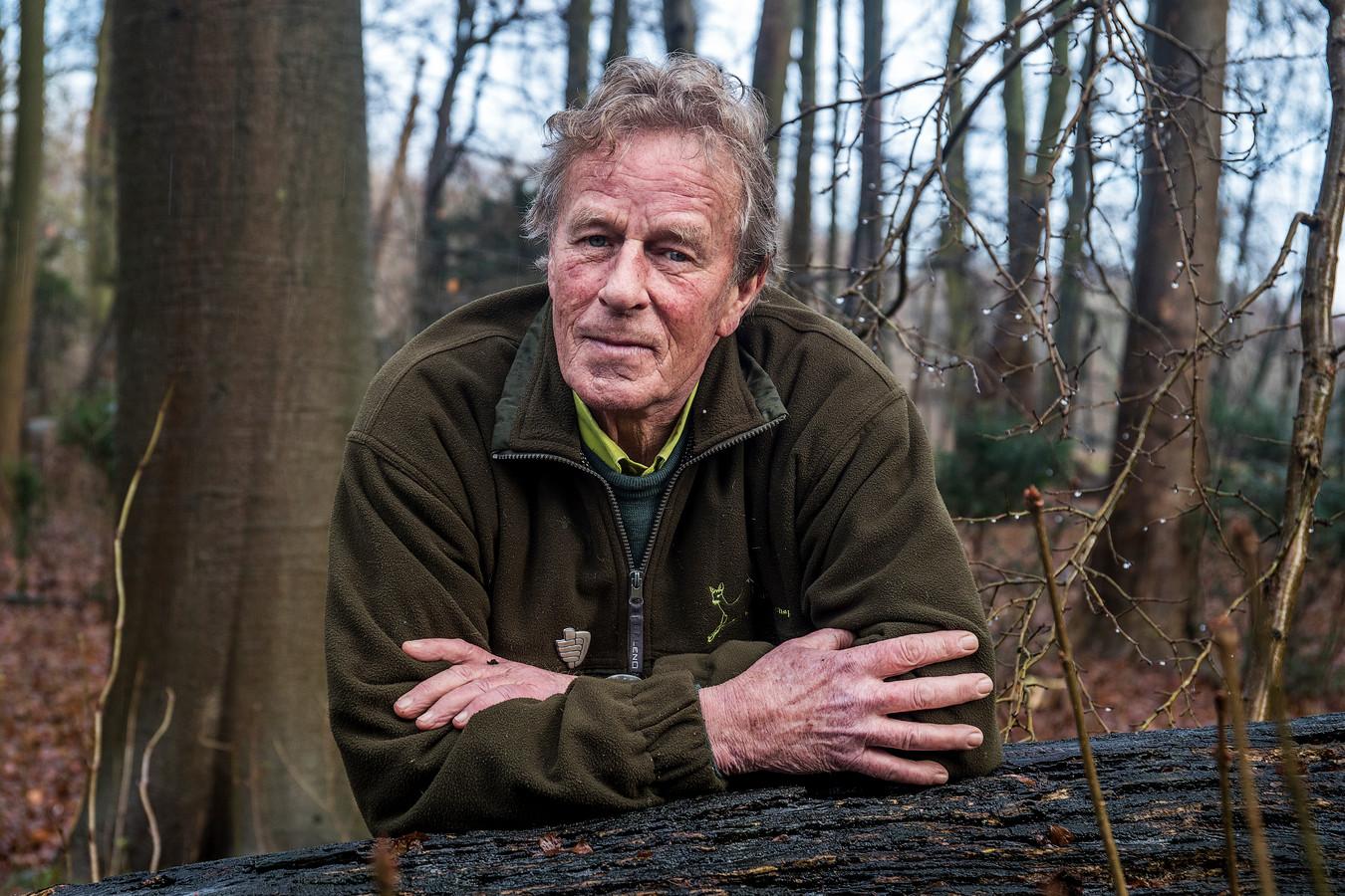 Boswachter Hans Hoogewerf, 40 jaar werkzaam bij de Stichting Het Utrechts Landschap.
