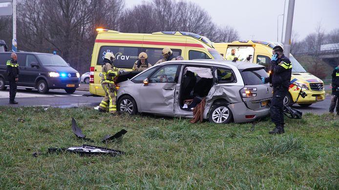 Ongeval op de afrit van de A1 bij Klarenbeek.