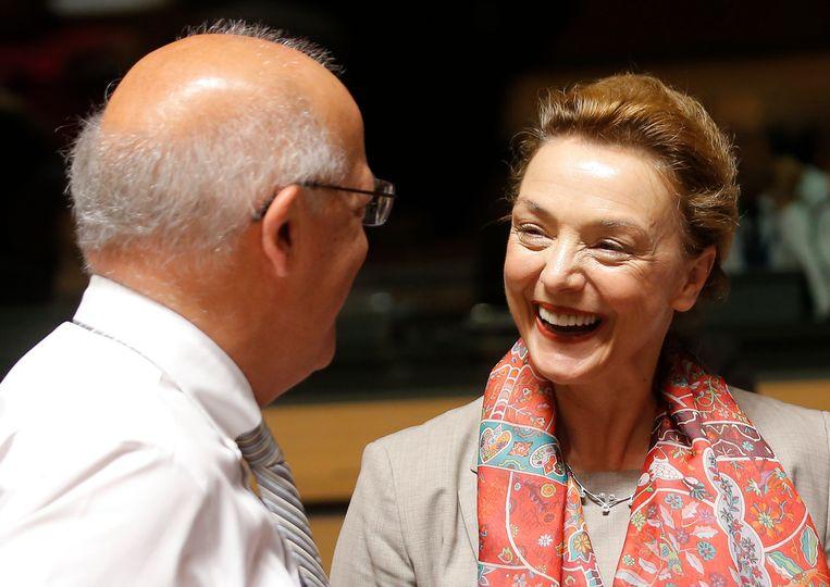 De Kroaatse minister van Buitenlandse Zaken Marija Pejcinovic Buric, de grote concurrent van Didier Reynders om secretaris-generaal van de Raad van Europa te worden. Beeld EPA