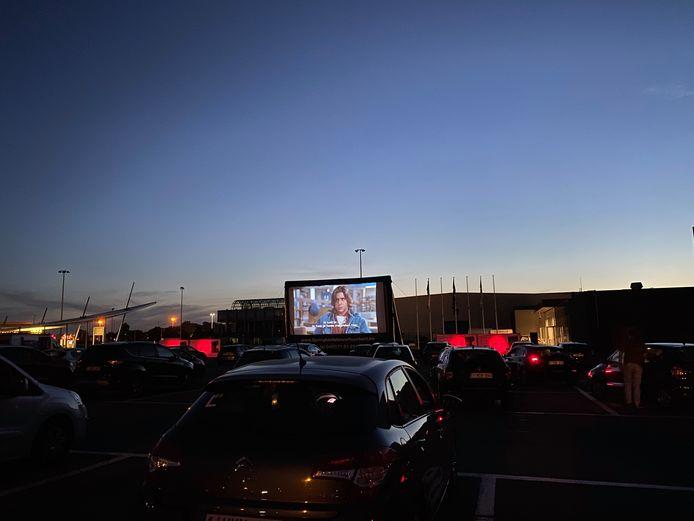Drive-in openluchtcinema aan Flanders Expo
