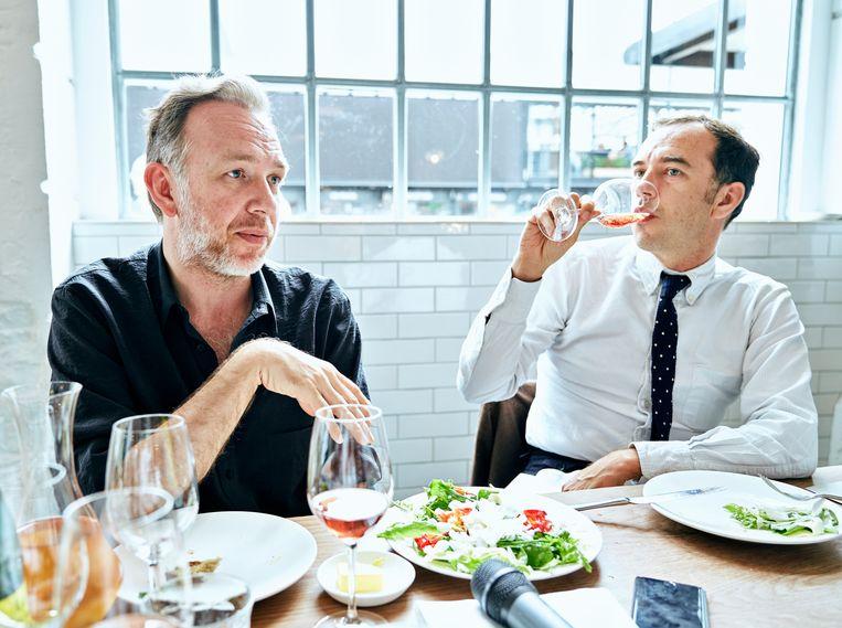 Stephen en David Dewaele bij Lyle's in Londen. Beeld Joris Casaer