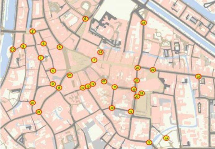 Op deze plekken in hartje Den Bosch komen camera's te hangen.