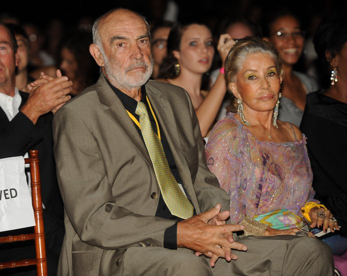 Sir Sean Connery en tweede echtgenote Micheline Connery in 2009