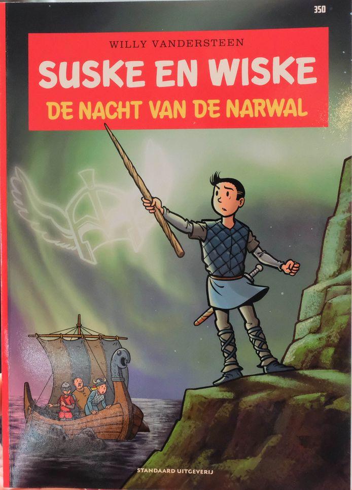 De narwal kreeg ook een eigen stripverhaal. Dit is de cover van het 350ste album van Suske en Wiske: 'De Nacht van de Narwal'.