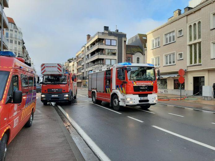 Pompier en intervention à Middelkerke