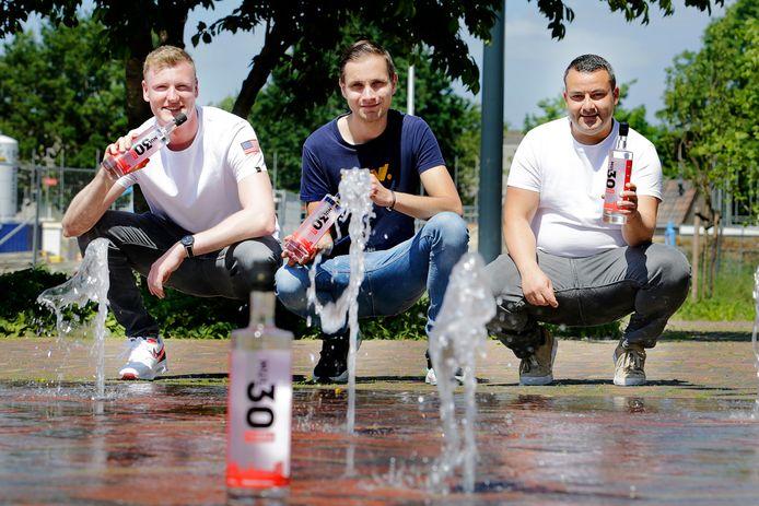 De mannen achter Nul030 Vodka: Thijs , Wesley en Kuner.