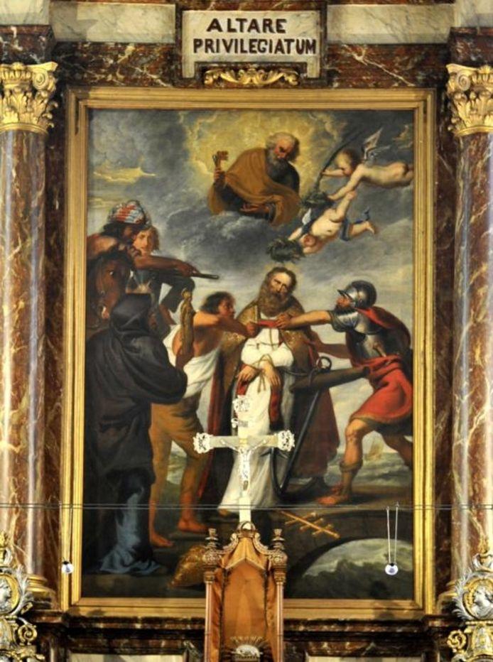 De Marteldood van de H. Clemens, mogelijk van Anthony van Dyck.