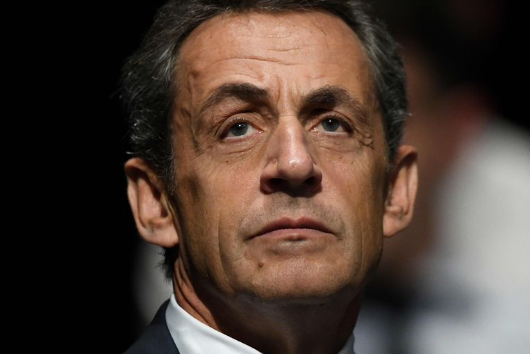 Gewezen Frans president Nicolas Sarkozy. Beeld AFP