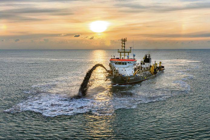 Baggerwerk op zee moet in de toekomst gebeuren zonder uitstoot van schadelijke stoffen.
