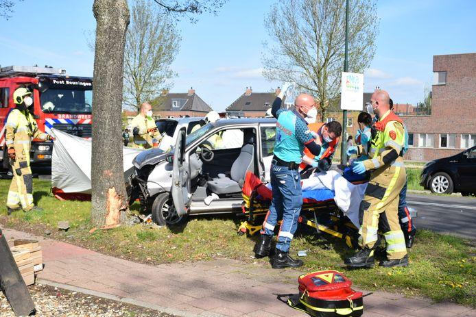 Het ongeval donderdagmiddag in Beuningen