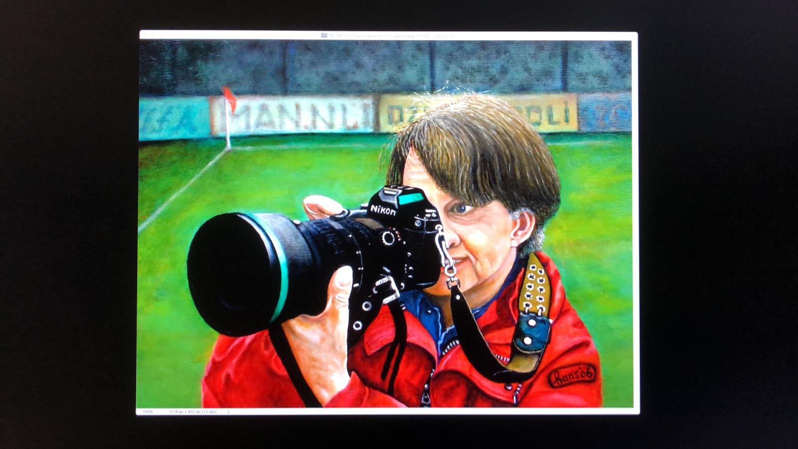 Een geschilderd zelfportret van Hans Groene.