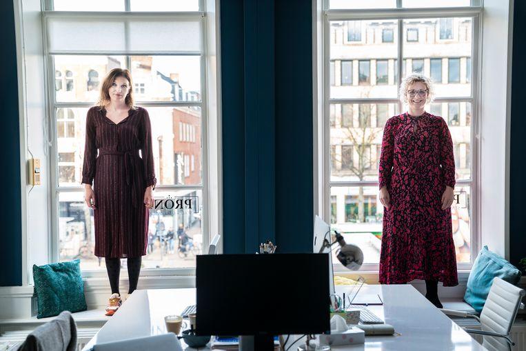 Minke Haveman (links) en Wieke Paulusma van de stichting Lutje Geluk. Beeld Reyer Boxem