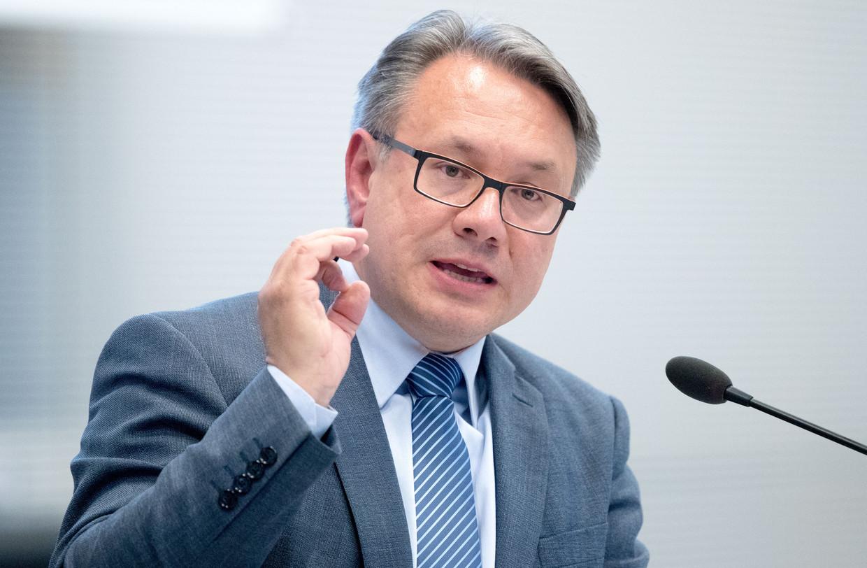 Georg Nüsslein uit Beieren ontkent alle beschuldigingen, maar stapte wel op uit de christen-democratische partij. Beeld Michael Kappeler/picture-alliance/dpa/AP Images