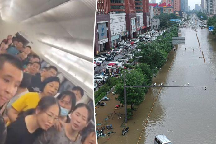 Zwaarste regenval in 100 jaar in Chinese metropool.