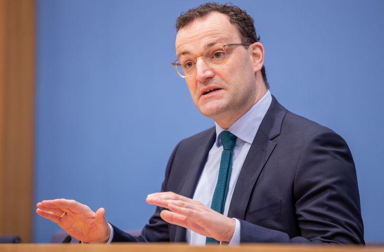 Jens Spahn, de Duitse minister van Volksgezondheid. Beeld EPA
