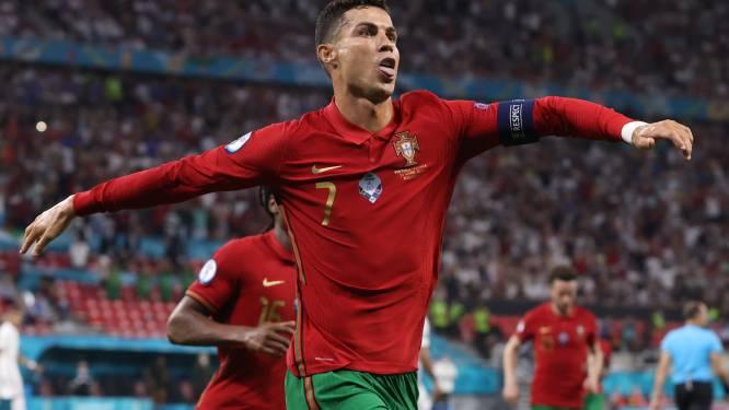 Cristiano Ronaldo is met 109de interlandgoal gedeeld topschutter aller tijden