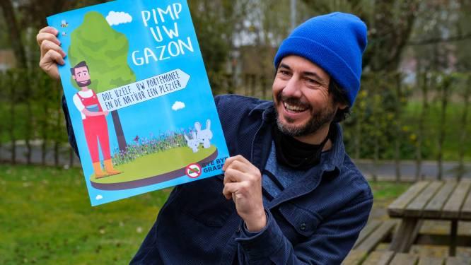 """Dieter Coppens vraagt het gras te laten groeien: """"Kort gemaaid gazon is bijna even waardeloos als beton"""""""
