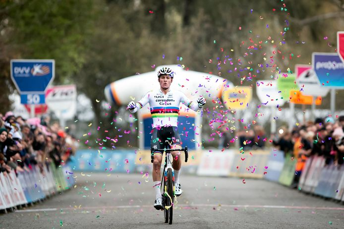 Mathieu van der Poel won vorig jaar in Hamme