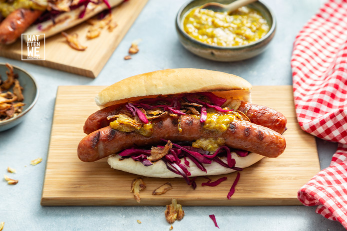 Hotdog met geheime saus