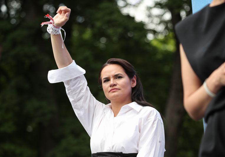 'Het was snel duidelijk dat ze het talent van een echte leider had', zeggen de Ierse pleegouders van Svetlana Tichanovskaja. Beeld EPA