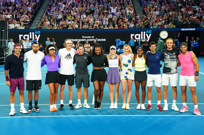 Les stars du tennis se mobilisent
