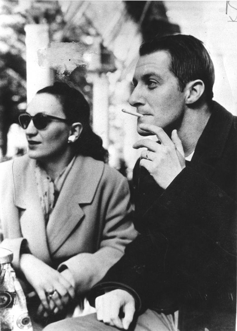 Erika Frank en John Engels in 1961. Beeld Privé archief