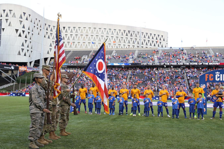 Voor elke wedstrijd van FC Cincinnati wordt het volkslied gespeeld.