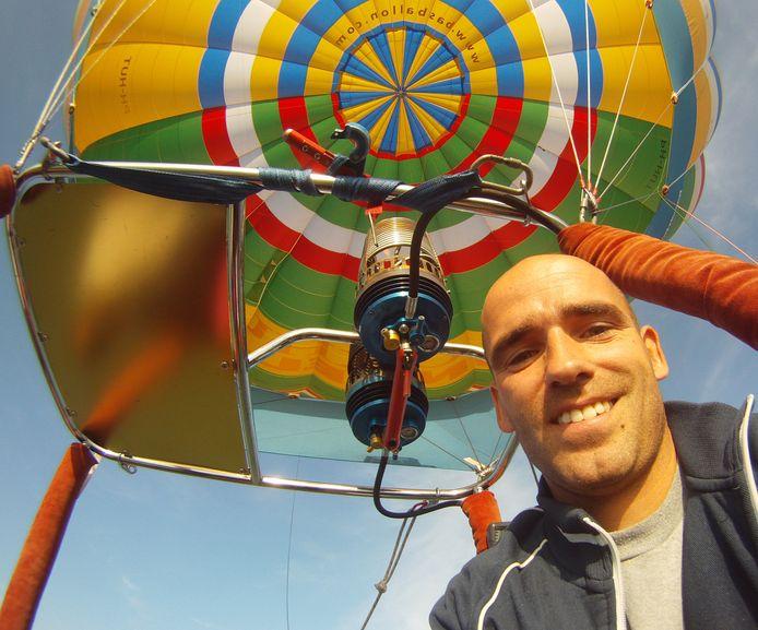 Bas Spierenburg van BAS Ballonvaarten is blij: er mogen weer mensen met hem mee.