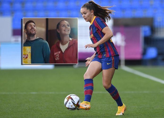 Lieke Martens. Inzet: de commercial met Lionel Messi.