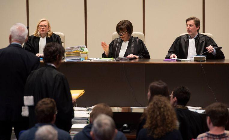 De foto's dateren van een eerdere procesdag. Beeld photo_news