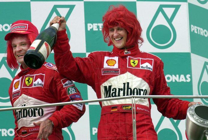Rubens Barrichello en Michael Schumacher.