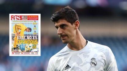 """Spaanse krant haalt in vijf pagina's uit naar Thibaut Courtois : """"Hij staat meer dan ooit ter discussie"""""""